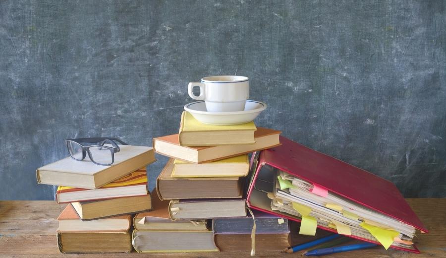books,black board file folder, education, learning, copy space